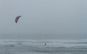 kitesurfing at easton's beach newport